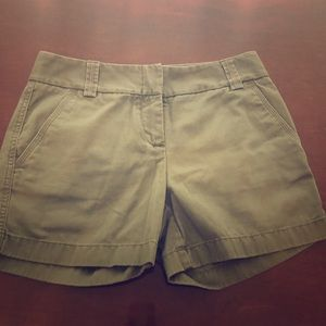 J Crew Olive Green Short 'City Fit' Size 0